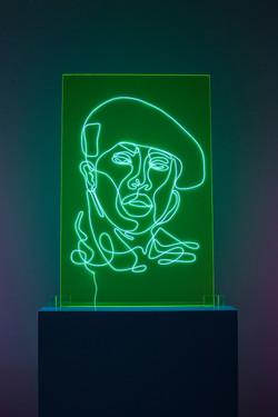 Missy Elliot Neon Rap Portrait