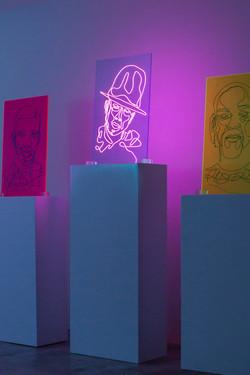 Pharrell Neon Rap Portrait