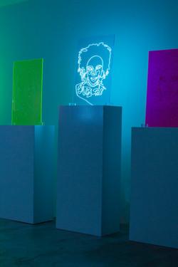 Lauryn Hill Neon Rap Portrait
