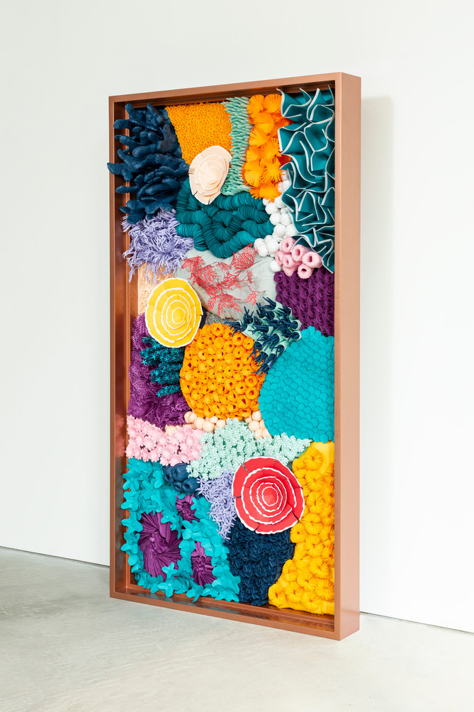 KORÁLLION - Fantasy hand-cut paper artwork crafted into a 3D display of coral