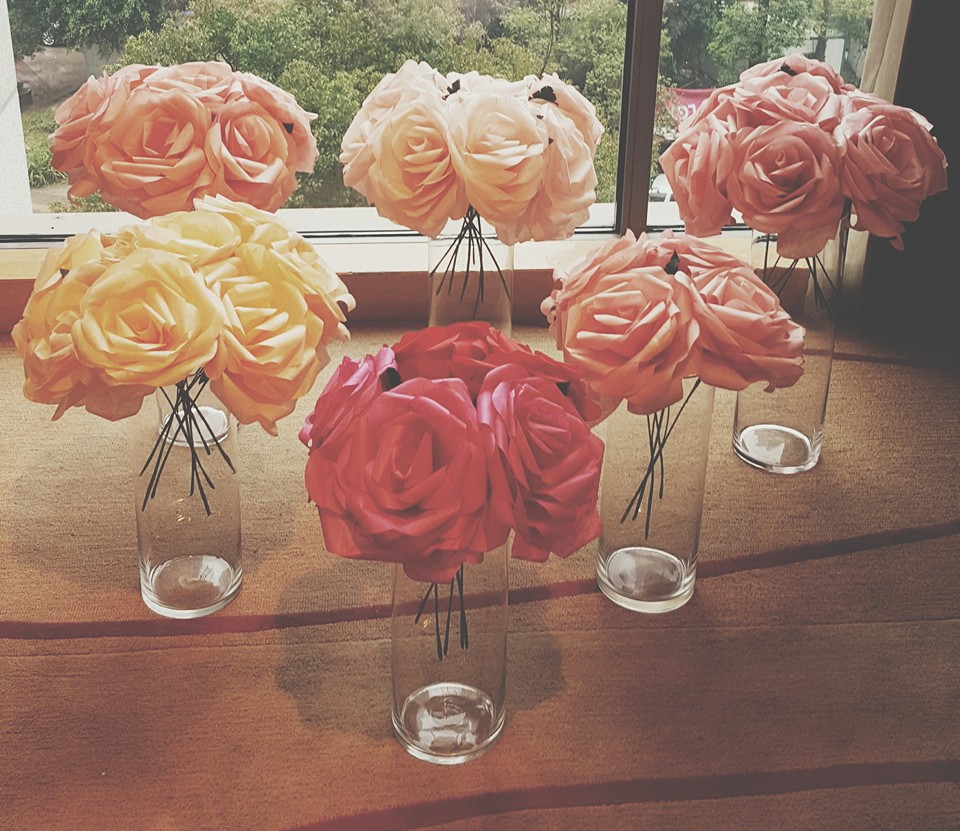 giant paper roses