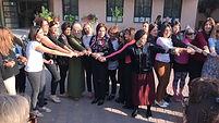 קבוצת נשים מחזיקה ידים