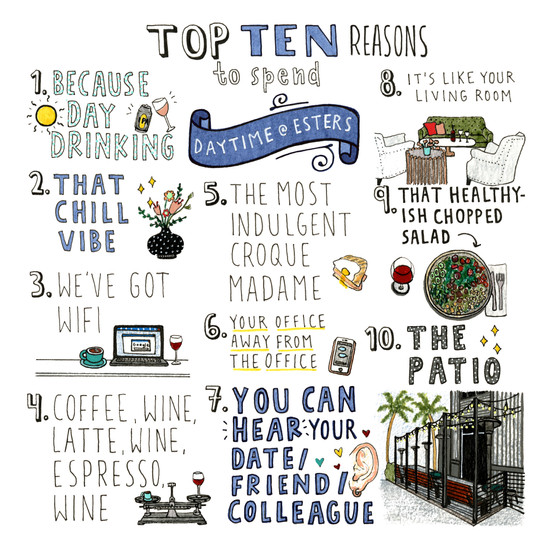 10 Reasons to Spend Your Day @ Esters