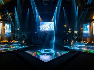 Eventos com LED e projeção