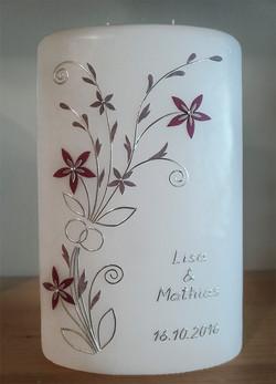 Hochzeitskerze Blütenranken