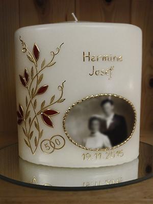 Kerze goldene Hochzeit