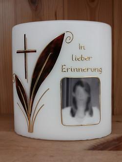 Trauerkerze Erinnerung mit Foto