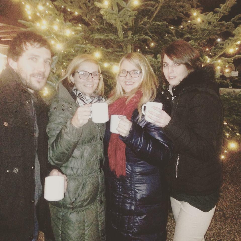 Nach dem Weihnachtsfeier-Singen