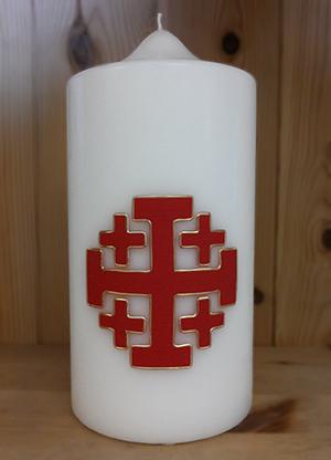 Kerze Jerusalemkreuz