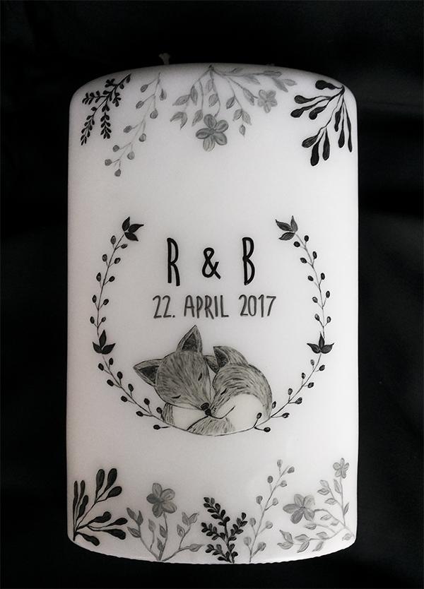 Hochzeitskerze einzigartig Einladung