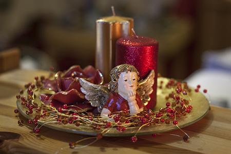 Weihnachtskerze Set mit Engel