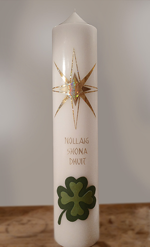 Kerze Weihnachten & Neujahr