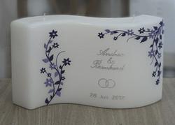 Hochzeitskerze mit Blütenranken