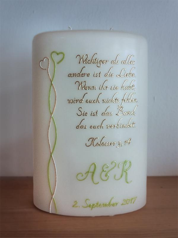 Hochzeitskerze Spruch