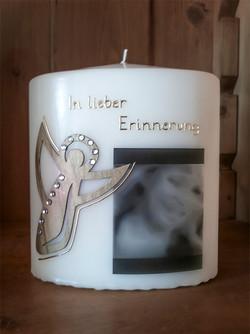 Trauerkerze Engel Foto