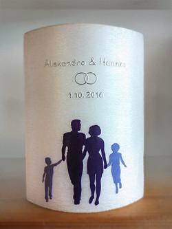 Hochzeitskerze individuell Familie