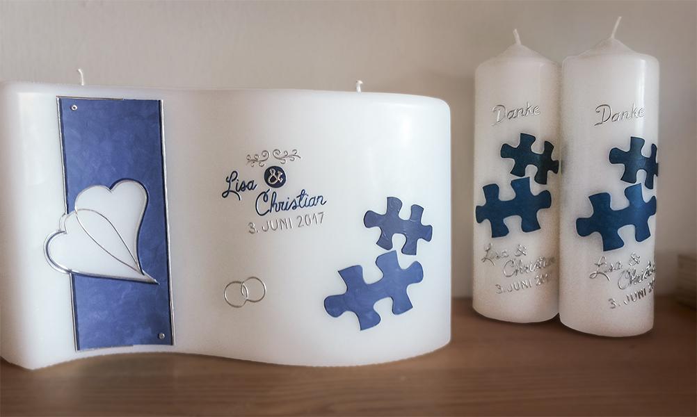 Hochzeitskerze Puzzle