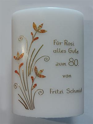 Geburtstagskerze mit Blüten