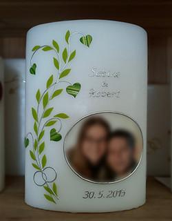 Hochzeitskerze mit Foto