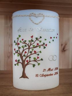Hochzeitskerze individuell Baum