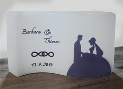 Hochzeitskerze Paar modern