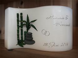 Hochzeitskerze mit 3D-Bambus