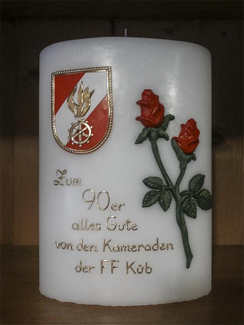 Geburtstagskerze Feuerwehr