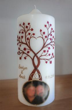 Hochzeitskerze Lebensbaum Foto