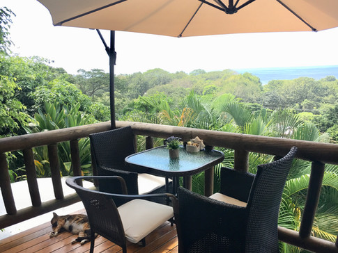 Tea House Breakfast Table Overlooking the Ocean