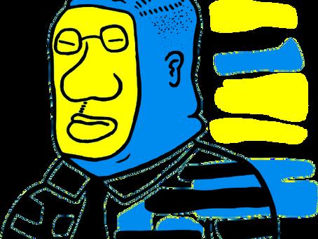 BLIND MAN BLUE BLACK