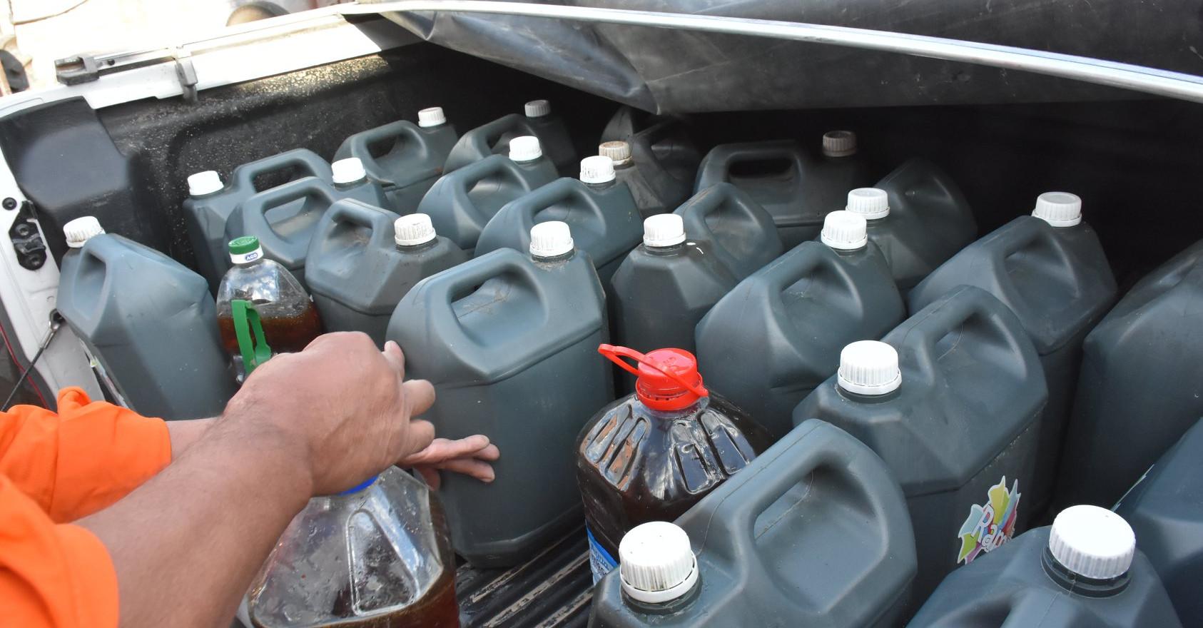 Recoleccion de aceite en diferentes instituciones