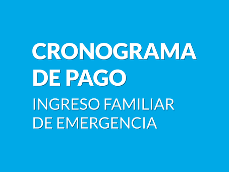 Cronograma de Pago IFE