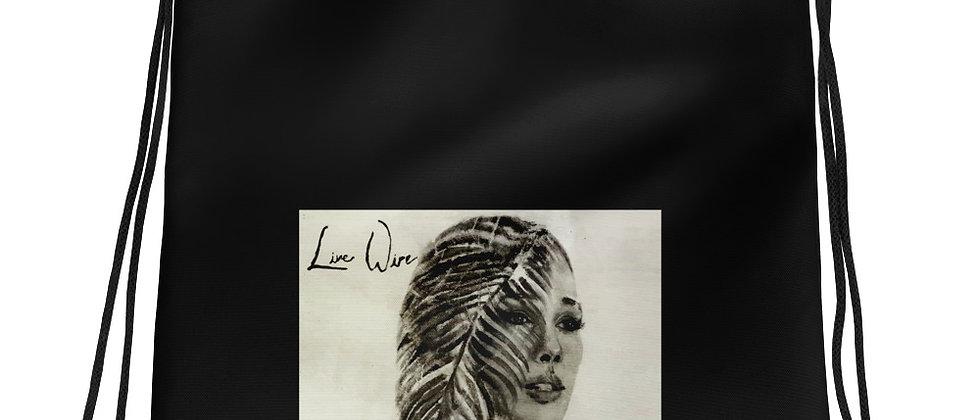 """Live Wire"" Drawstring bag"