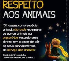 Direitos dos Animais são UNIVERSAIS.