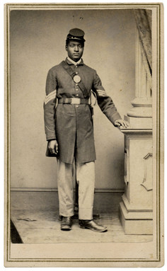 Transcribe the military records of African American soldiers in the American Civil War