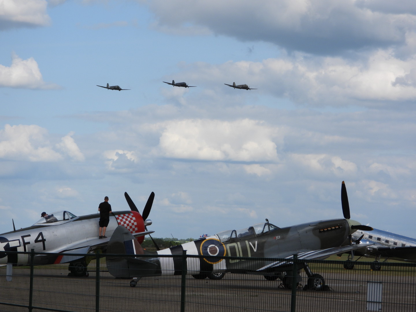 Formation Flight over Duxford