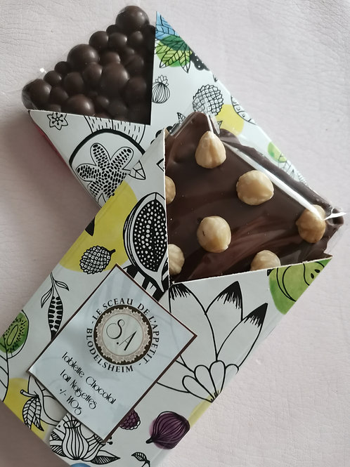 Tablettes de Chocolat Lait-Noisettes