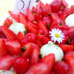 Pavlova - fraise pistache