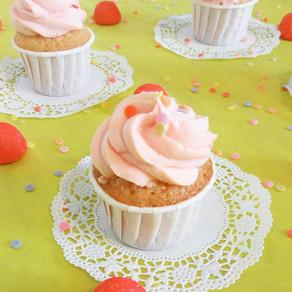 Cupcakes fraise-tagada