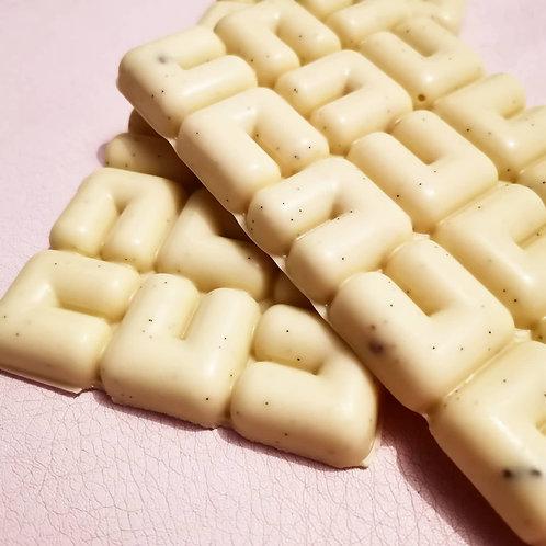 Tablette de chocolat blanc et vanille