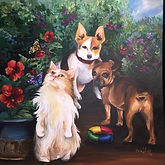 Pet, Portrait, cat, dog, flowers, toys, custom, personalized, Cassie, Wright, artistexas, studio, painting, acrylic, artwork, dallas, fort, worth, texas,