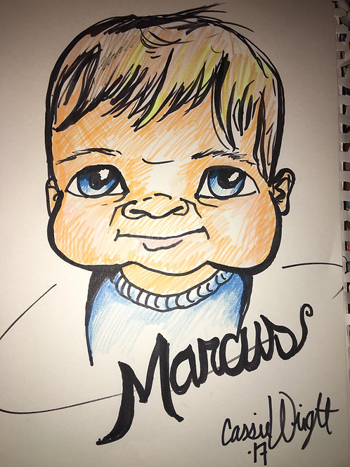Get a color caricature from a photo