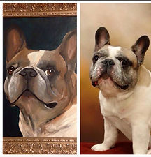 Pet, Frenchie, Bulldog, oil, acrylic, painting, personalized, custom, Cassie, Wright, artistexas, painting, with, a twist,