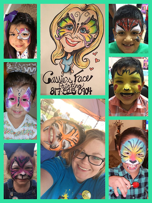 Face painting 1hr in the Texarkana area