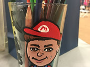 caricature on glass, great gift