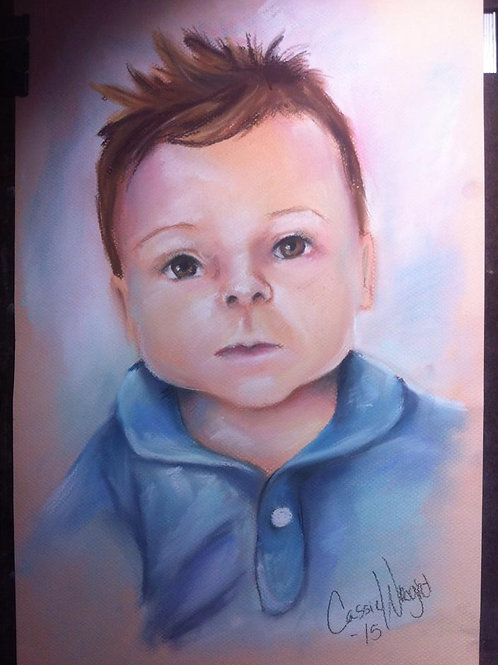 "16""x20"" Pastel drawing Portrait-Color"