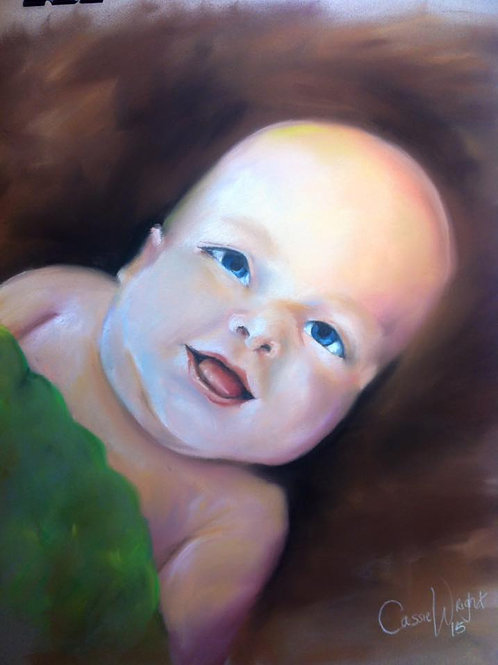 """18""""x24"""" Pastel drawing Portrait- Color"""