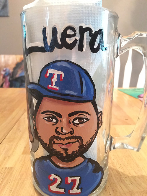 Beer mug caricature