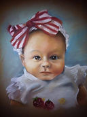 Pastel, portrait, love, drawing, child, bow, dfw, fort, worth, watauga, texas, art, artwork, ellie, cassie, wright, portrait, texas, artistexas, studio, painting, with, a, twist,