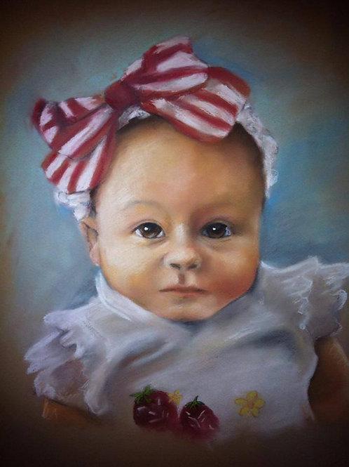 """11""""x14"""" Pastel drawing Portrait-Color"""